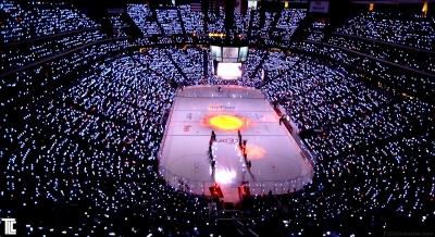 LED wristbands light up the Arizona Coyotes