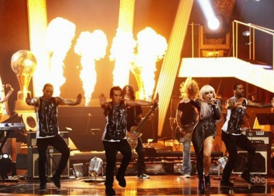 Lady Gaga on Fire! Dancing With The Stars