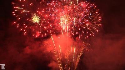 TLC fireworks show to custom music track