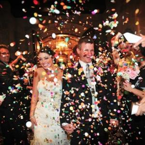 Confetti showers celebration effects